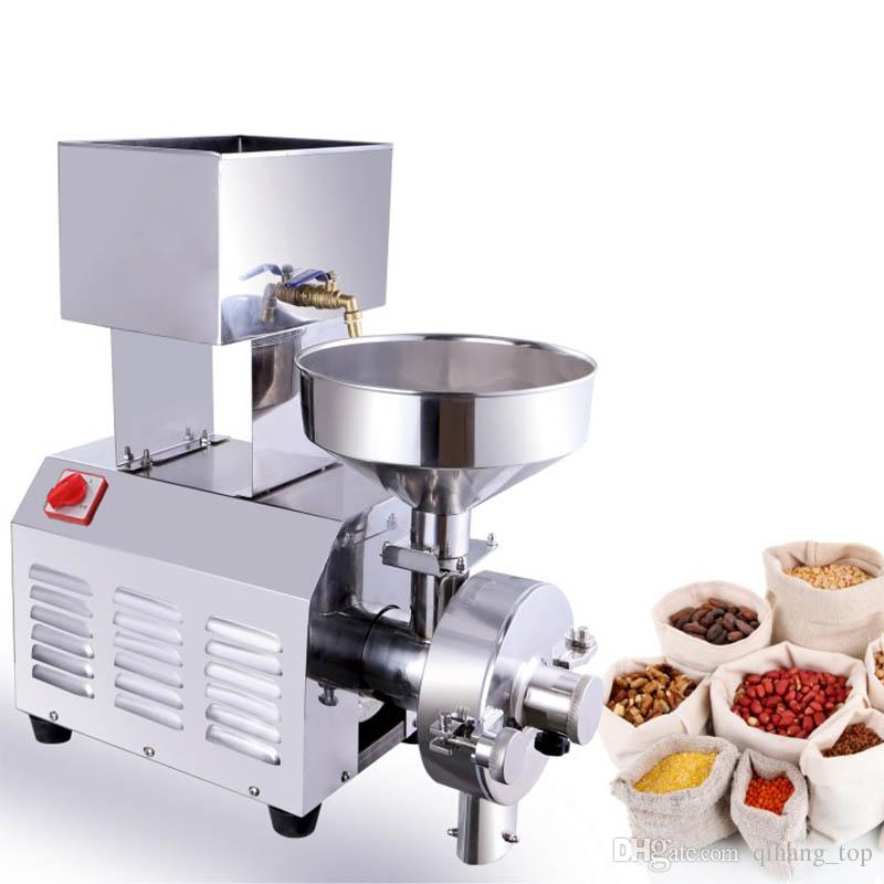 Qihang_top Multi-funcional 2200 W máquina de molienda de grano molinillo de molienda de harina de maíz comercial precio de la máquina de pulpa de sésamo maní eléctrico