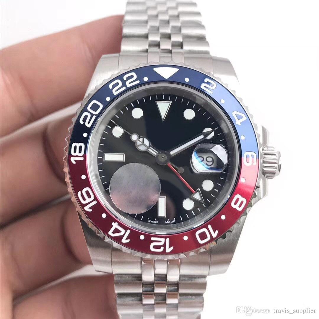 Nuovo orologio di alta qualità 126710BLRO movimento meccanico automatico GMT timing Coke ring 40MM cinturino classico a cinque bande in vetro zaffiro