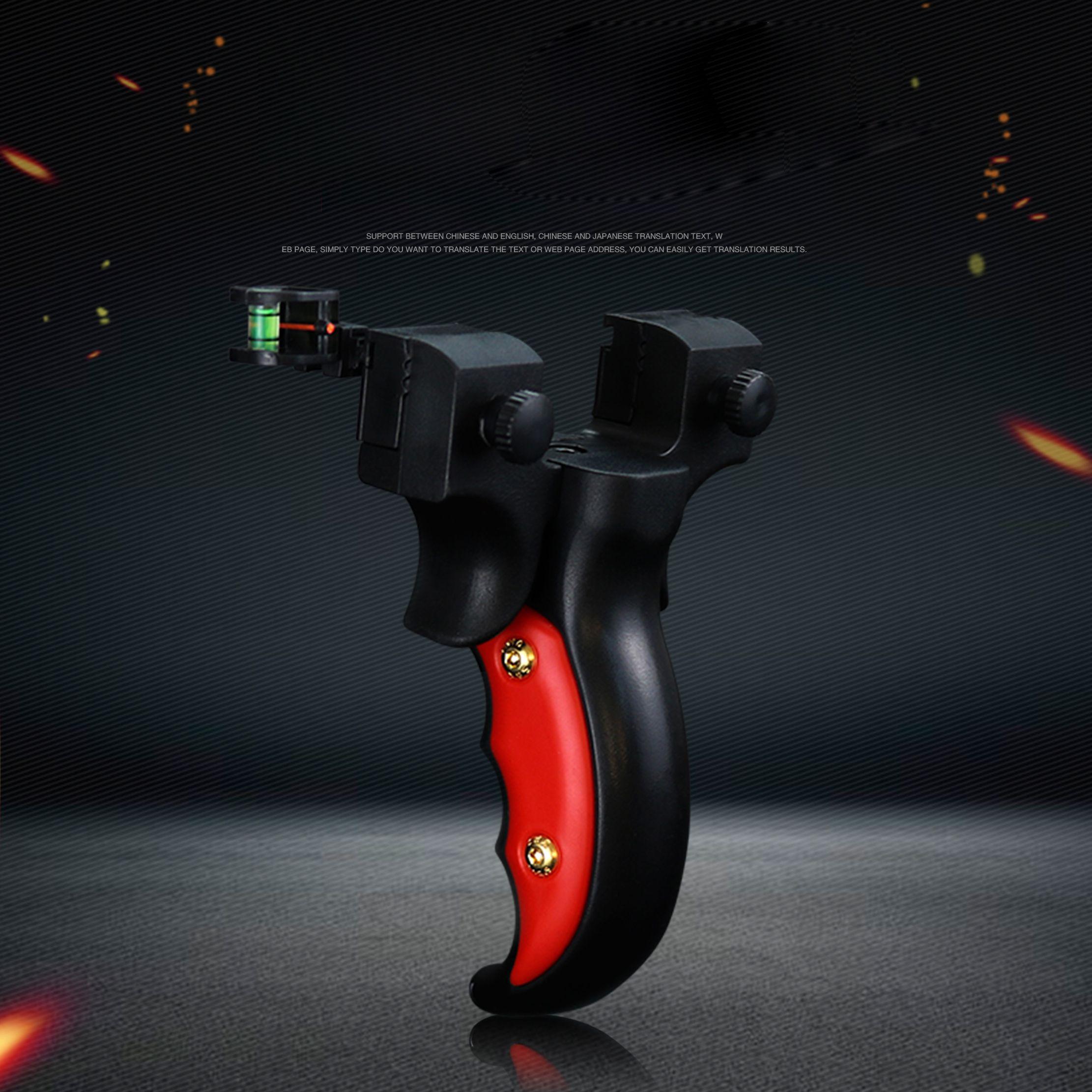 사냥 새총 양궁 투석기 수지 야외 슬링 샷 레벨 미터가 시력 평면 고무 밴드 포인트를 목표로 폴리 탄소를 ABS