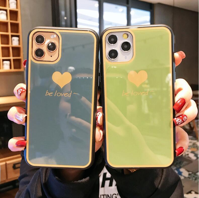 1pcs Hot For Iphone 7 8 Xr Xs 11 Pro Max Plus Phone Case Mirror Glass All-Inclusive High-End Drop-Resistant TPU
