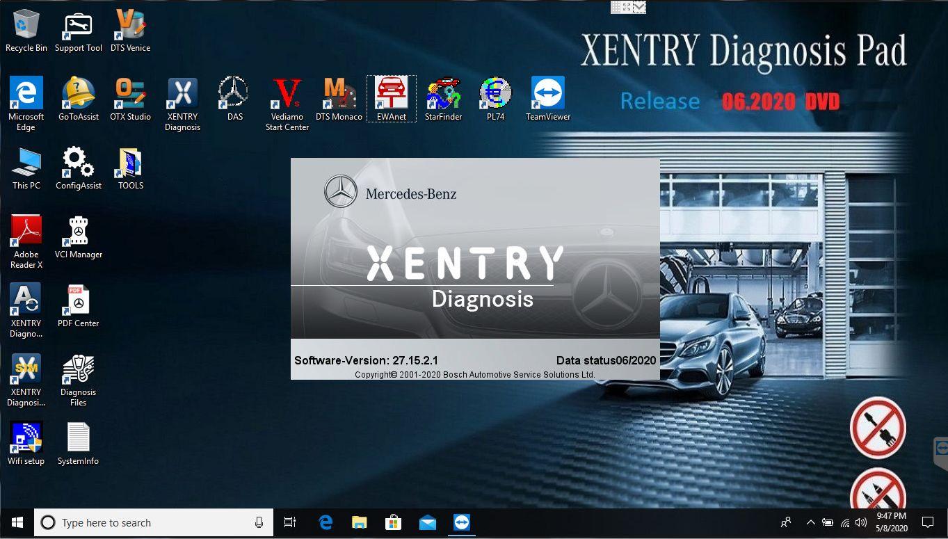 2020 Por Mercedes Benz coche herramienta de diagnóstico MB estrella C4 C5 2020.06v soportes de software fuera de línea y en línea SCN codificación de software multilingüe
