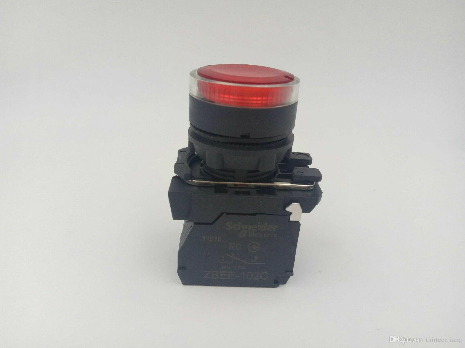 QTY 10 Per Lot Original Schneider red illuminated button XB5AW34M2C AC220V New In Box Free Expedited Shipping