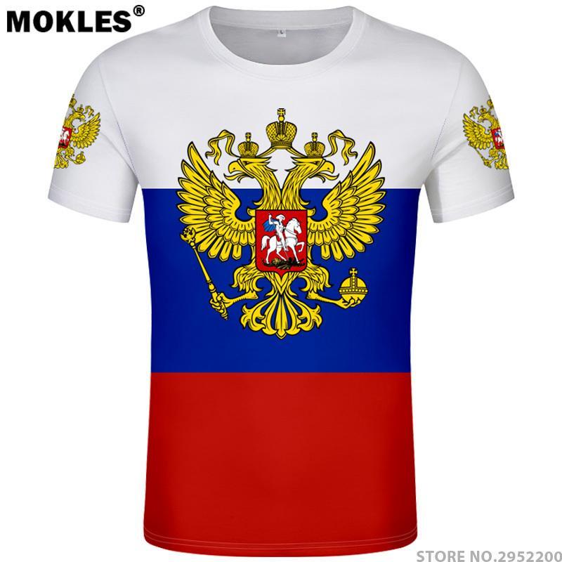 La Russie T-shirt Libre Personnalisé Nom Numéro Rus Socialiste T-shirt Drapeau Russe Cccp URSS Diy Rossiyskaya Ru Union Soviétique Vêtements Y19050902