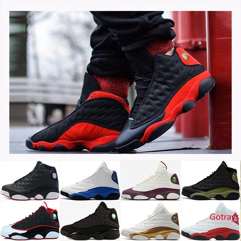2019 New Island Green 13 zapatos criados Hyper Royal DMP criado Hologram Barons Chicago Playoff hombres zapatos de baloncesto 13s deportes Sneaker 8-13