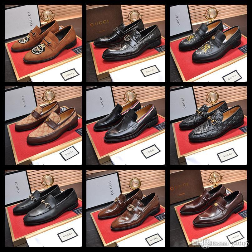 19SW Vintage Design Patent Leather Oxford SHOES For Men Dress SHOE Men Formal SHOES Pointed Toe Business Wedding SHOES YYYY6