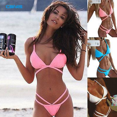 2016 Sexy Bandage Brazilian Push up Bikini Women Plus Size Swimwear Swimsuit Biquini Bathing Suit Bikinis Set maillot de bain