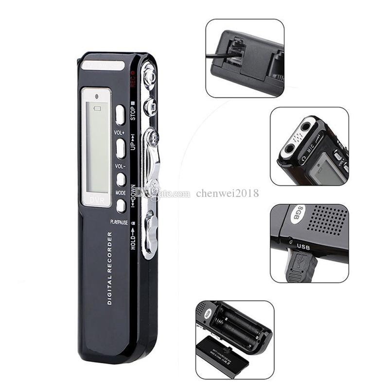 USB Pen Digital Voice Recorder 4GB/8GB Professional Voice Activated Digital Audio Voice Recorder with Mp3 player mini Playback Dictaphone