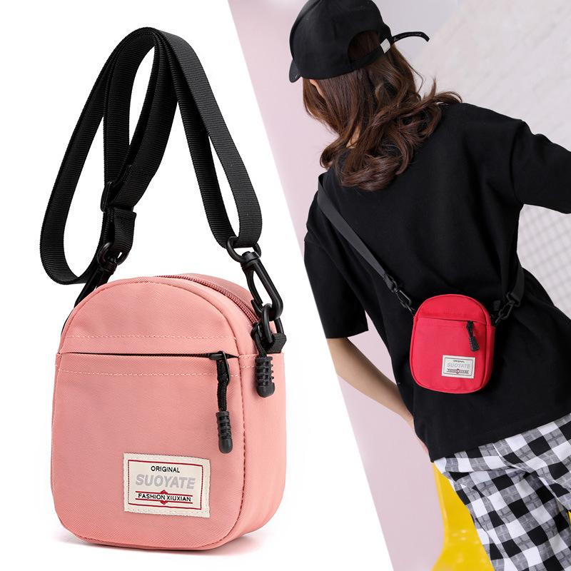 2019 Oblique Tide Satchel Mini- Mobile Phone Small Bag Woman Nylon Cloth 100 Take The Hand Machine Single Shoulder Package