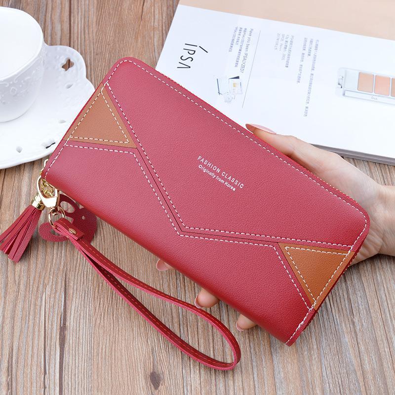 2020 Yeni Cüzdan Pu Deri Çanta Bayan Uzun Cüzdan Altın Hollow Yapraklar Kılıfı Çanta İçin Kadınlar Madeni Para Çanta kart sahipleri Debriyaj