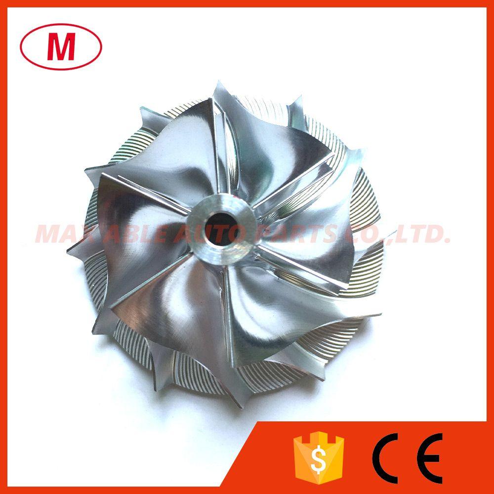 TD04HL 49189-43400 40.68 / 56.02mm 6 + 6 블레이드 전방 터보 빌렛 컴프레서 휠 / 알루미늄 2618 / 밀링 컴프레서 휠