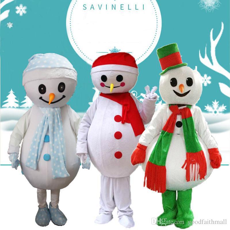 2019 chaud usine de Noël Le bonhomme de neige costume de mascotte dessin animé costume de poupée location de marche de costume personnages de dessins animés pour adultes