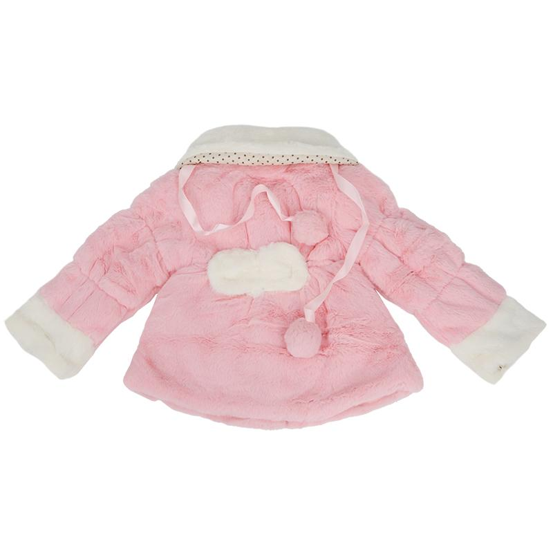 Girl Baby Winter Warm Toddler Jacket Snowsuit Xmas Outwear Flower Coat pink-80cm
