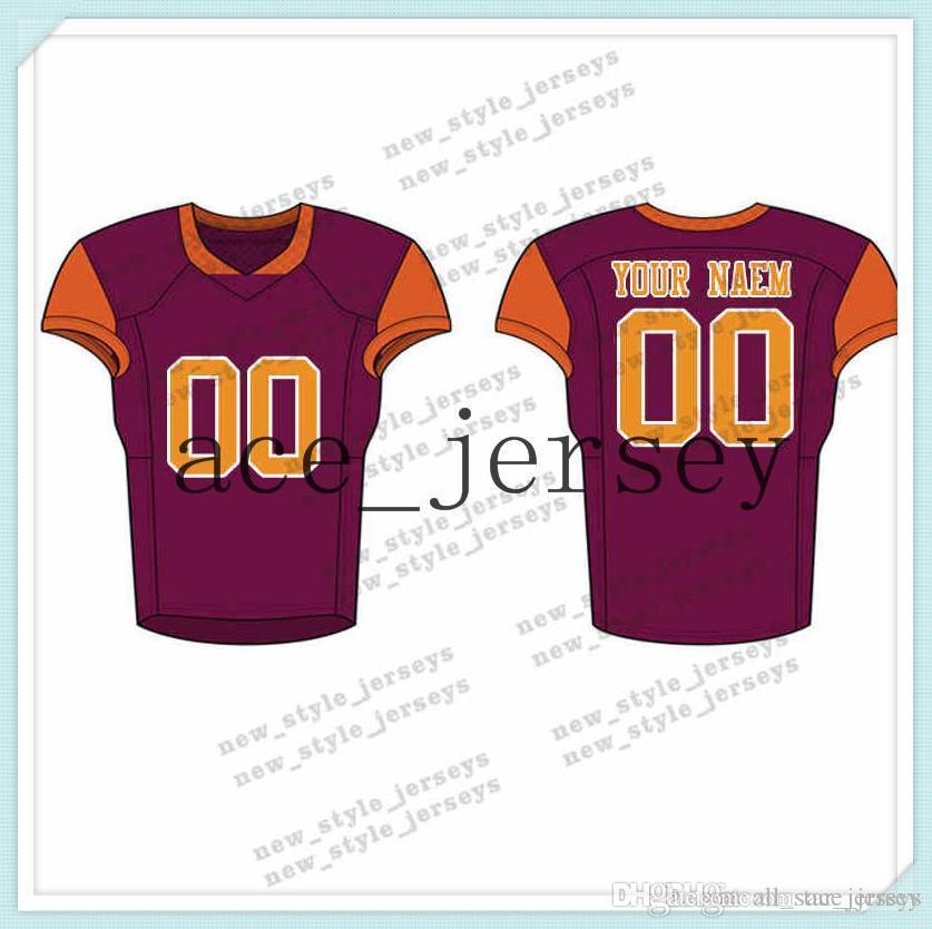 109men 2019 Youth Football Jerseys армия зеленое вино красные вышивка логотипы сшитые пользовательские любое имя Любое количество майок