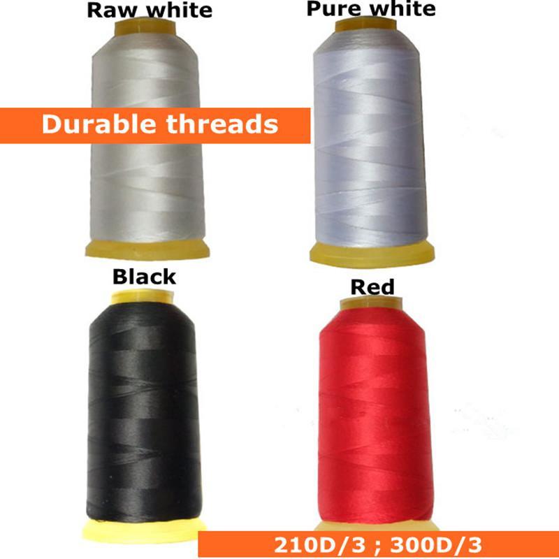 Alta hilo negro de poliéster durable para / Jeans / Sofá hilos de cable de la máquina de coser de cuero 210D espesor