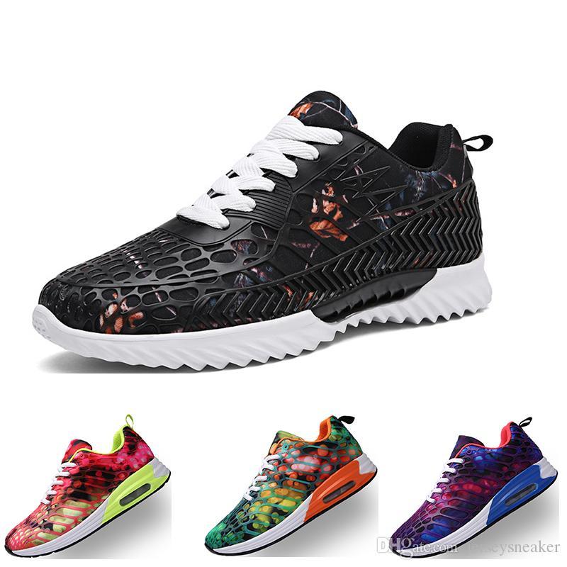 2020 Nuovo Ariival Scarpe da corsa per gli uomini donne viola verde blu rosso bianco studente nero allenatore modo di formato scarpe sportive eur38-45