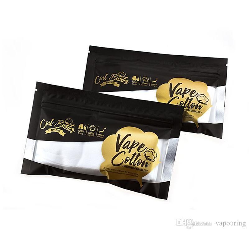 100% Япония Vape Органический хлопок Чистый вкус Для Испаритель DIY RBA / RDA / RTA Rebuildable Форсунка Катушки E-сигареты высокого качества