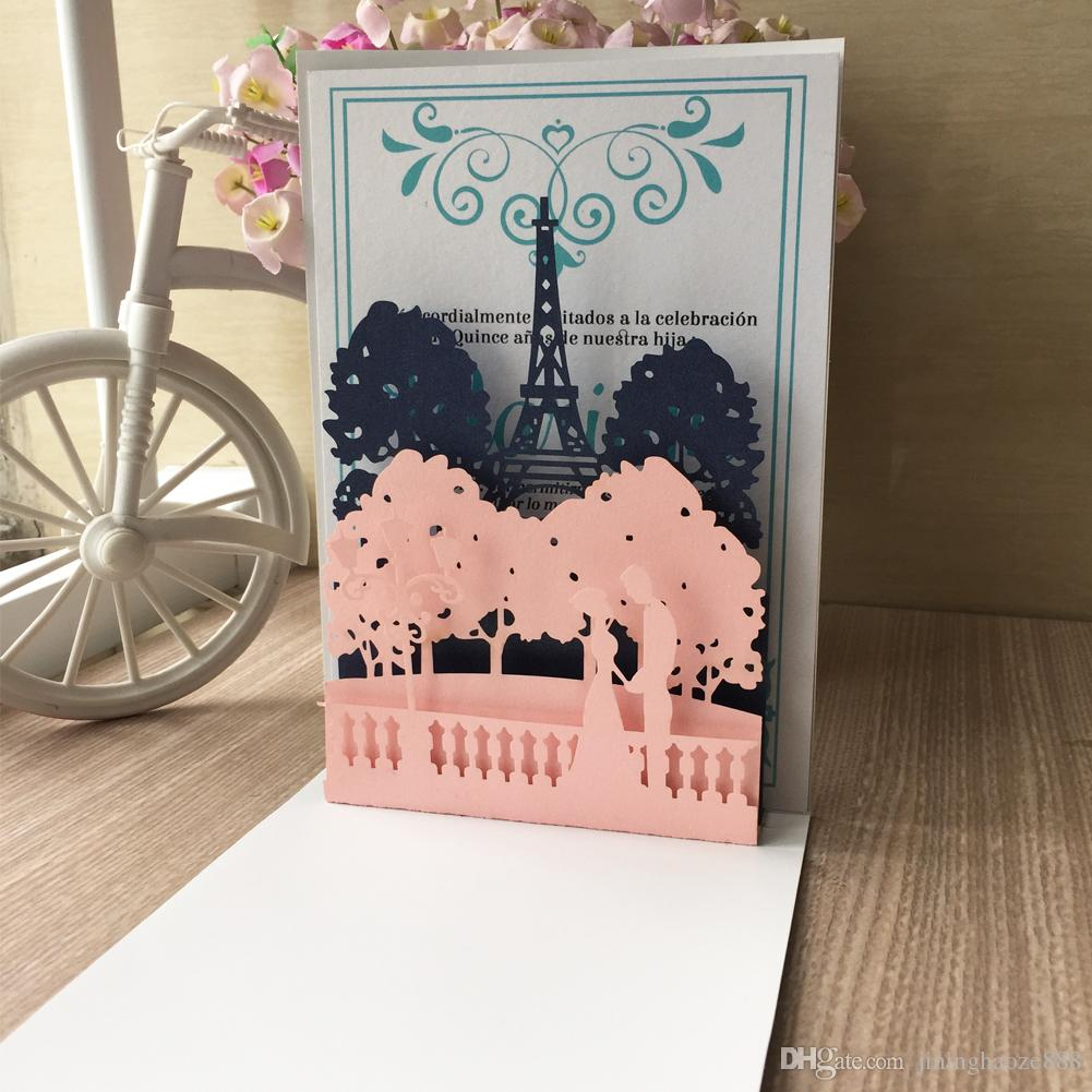 3D Palace Свадебное приглашение Применить к Engagements Birthday Party Костюмированный Приглашение Sculpture Восхитительный карты