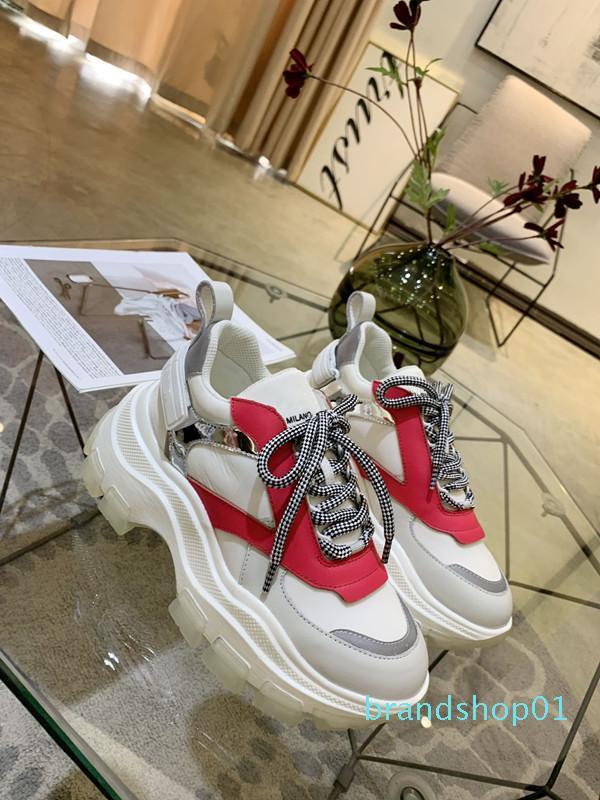 2019 novo designer sapatos Flats para amantes Mulheres partido Mens Couro Sneakers Atacado frete grátis hem190614 lll