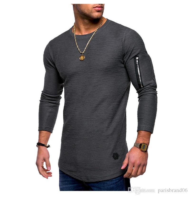 Bahar Erkek Tasarımcı Tişört Casual Erkek Mürettebat Boyun Tees Moda Gevşek Katı Baskılı Erkek Tees