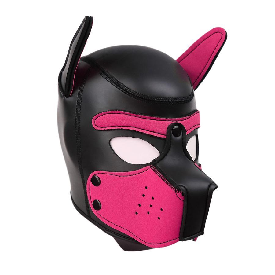 New Sponge Neoprene Thick Puppy Hood Dog Head SM Sex Cosplay Headgear Fetish Mask Costume Role Play Bondage Sex Toys 10Colors