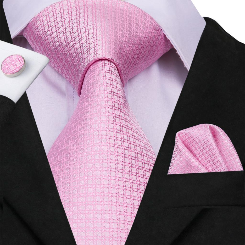 Fashion Wedding Men/'s Ties Pink WOVEN JACQUARD Silk Necktie