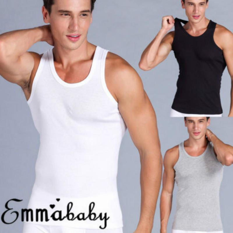2018 camisa sin mangas del chaleco de los hombres Emmababy Muscle las camisas de verano tapas ocasionales Tee EE.UU. verano Pullover