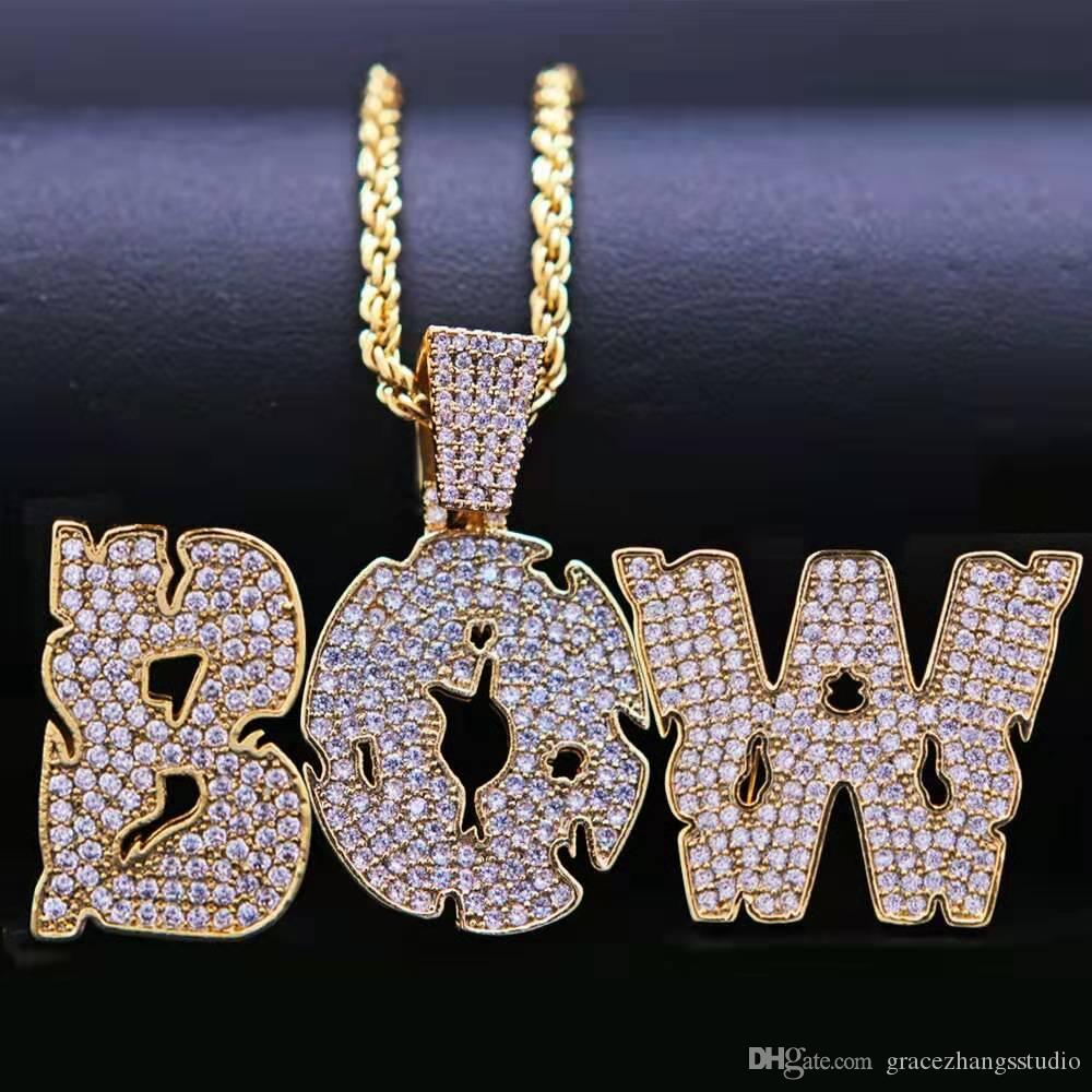 hip hop 26 letters custom name necklace for men women luxury designer diy letter names iced out pendants fashion necklaces jewelry love gift