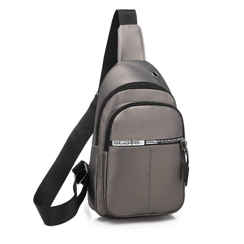 2020 Nouveau style Hommes poitrine pack sac à bandoulière Mode Sac de sport en plein air multi-fonctionnelle de nuit réfléchissant Sac à dos