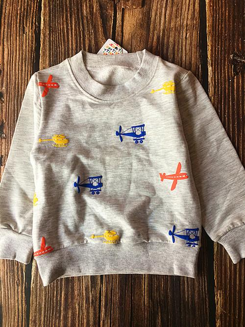 (1piece /lot) 100% cotton 2016 new style luck fish hoodies kids