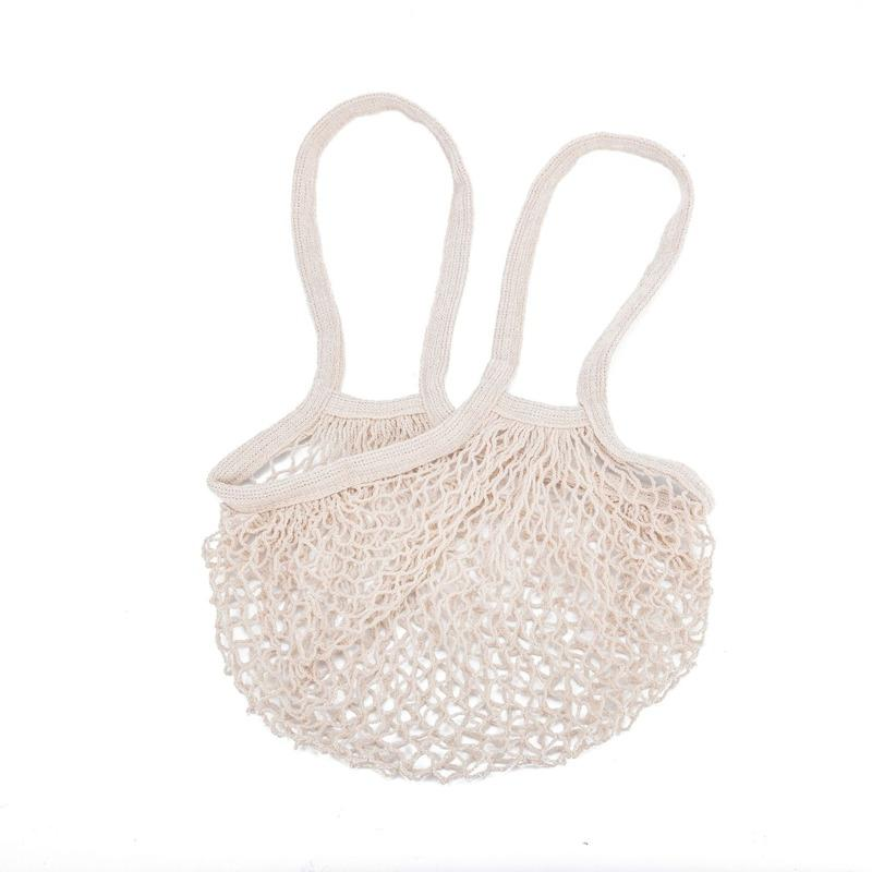 Reusable Produce Bags Eco Friendly Mesh Hanging Fruit Bag Breathable Vegetable and Fruit Fashion Shopping Beach Travel Bag