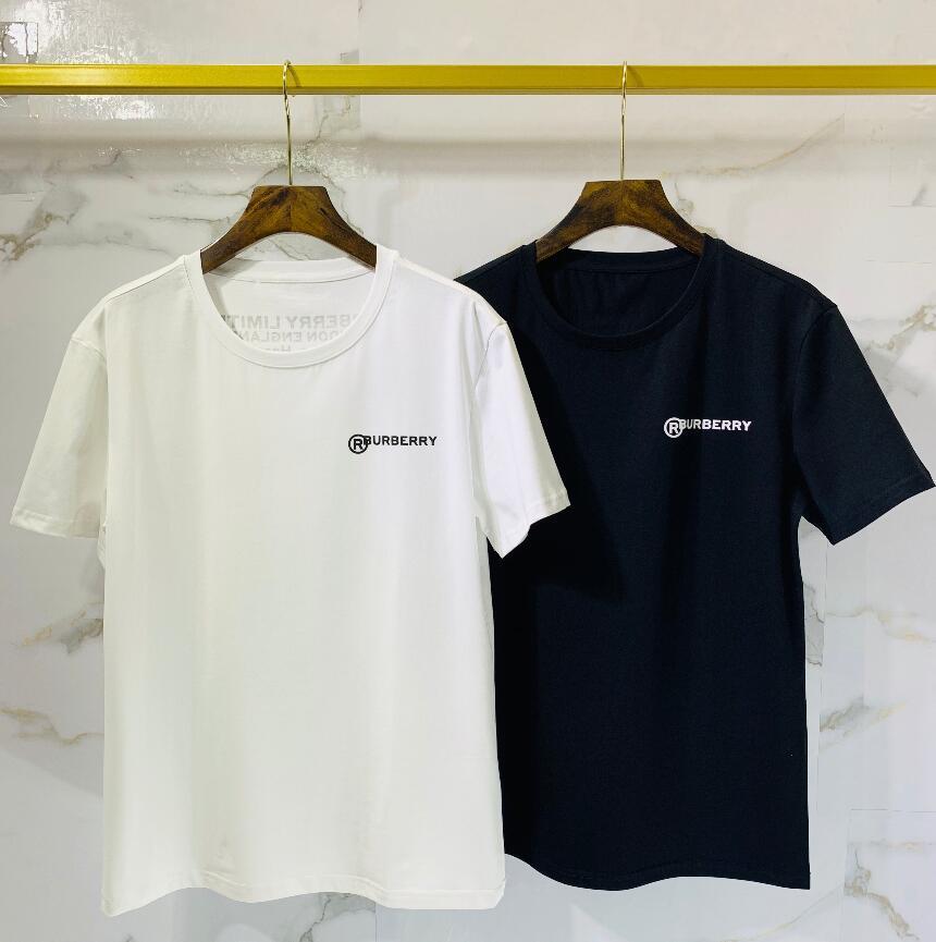 2020 de algodón de alta calidad nueva O-cuello de la manga corta de la camiseta de la marca camisetas de los hombres de estilo casual para los hombres camisetas del deporte del envío. ° 13