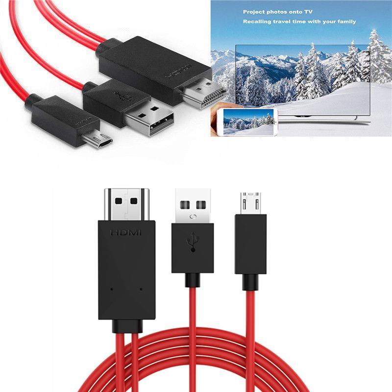 1шт MHL к HDMI адаптер 1080P MHL Micro USB к HDMI кабель адаптера Full HD 1080P TV конвертер 11PIN для Samsung Galaxy телефоны 5.0