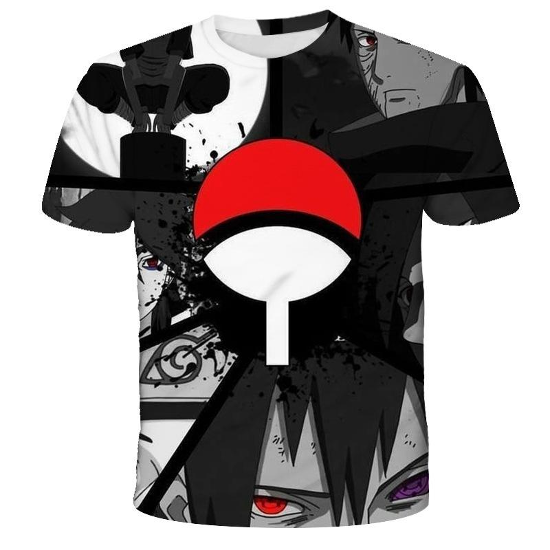 Sommer 3D-Druck Anime Naruto Druck-Kurzschluss-Hülsen-Art und Weise heißen Verkauf-Männer T-Shirt der beiläufigen Breathable T-Shirt