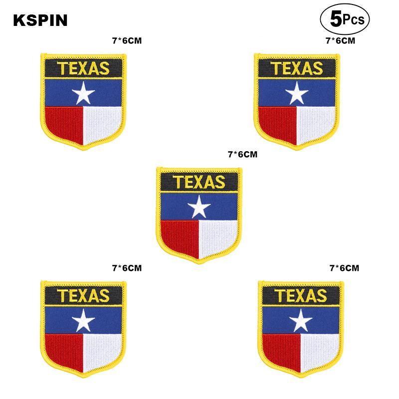 E.U.A Bandeira Texas Remendos ferro em Serra sobre Transferência de patches de Aplicações de costura de roupas em HomeGarden