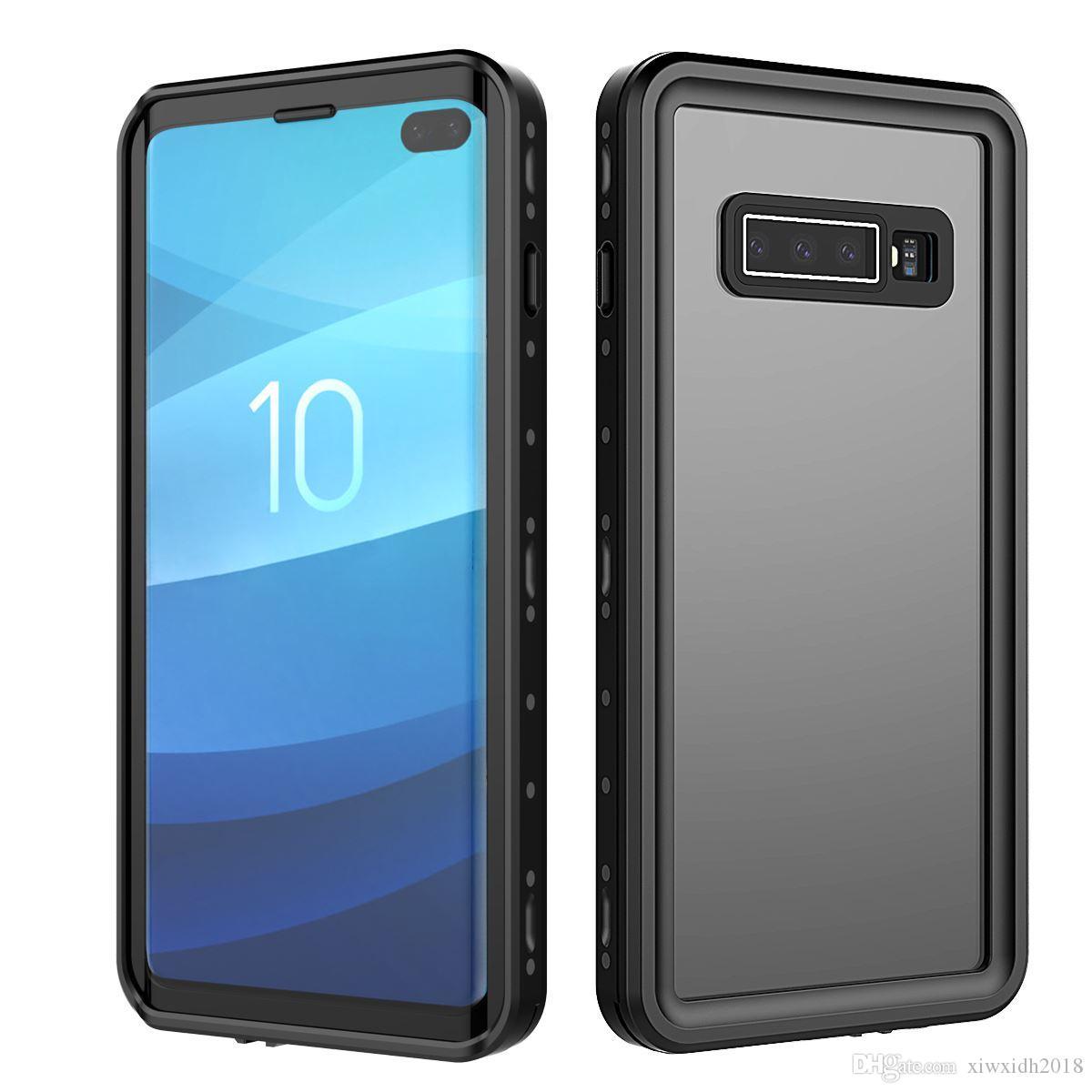 Coque d'origine IP68 Etanche Pour Galaxy S10 Plus Protection Antichoc Dirt Neige Avec Touch ID Pour Samsung Galaxy S10 Coque Cover Cover
