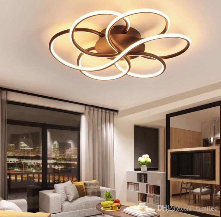 DIMMING Современные светодиодные потолочные фонари гостиная спальня кабинет балкон минималистский плафон светодиодный потолочный светильник дома освещение AC85-260V LLFA