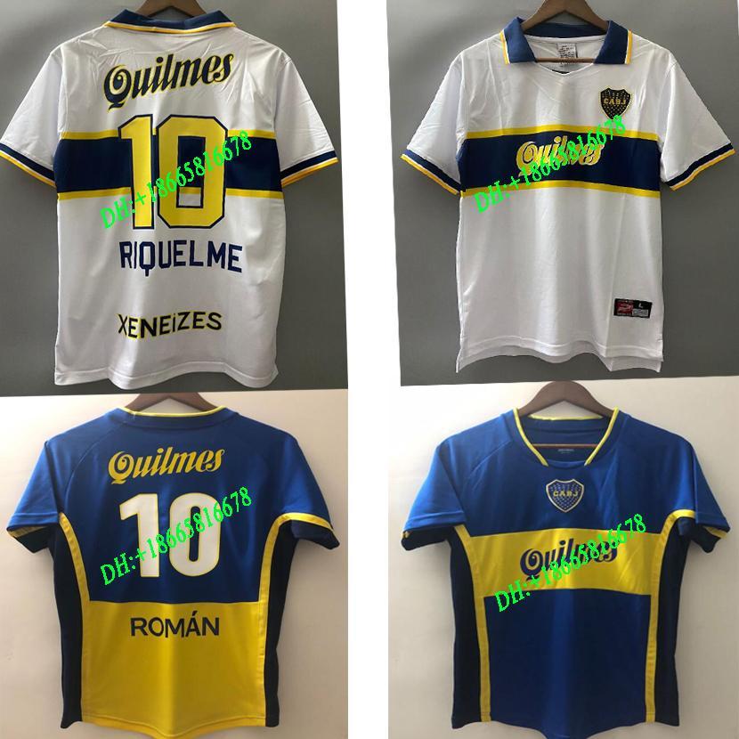 97 98 Boca Juniors Retro Fußball-Trikot Maradona Jahrgang Caniggia 01 02 05 MAGLIA PALERMO Fussball-Shirts Maillot