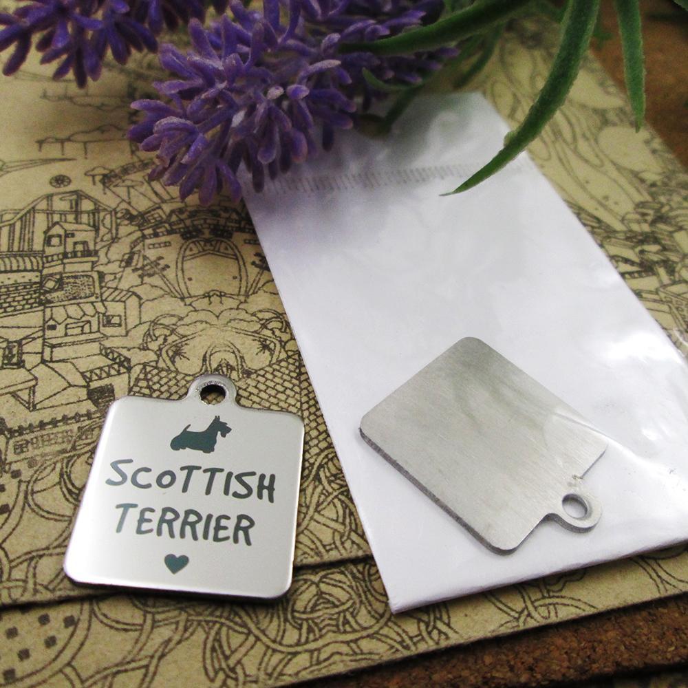 40pcs - « Scottish Terrier Dog » charmes en acier inoxydable plus de style pour le choix des pendentifs de bricolage Charms pour collier