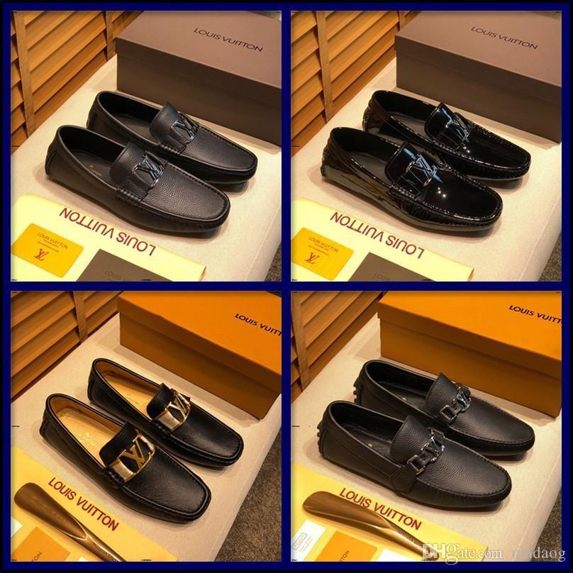 21FF из натуральной кожи Мужчины Повседневная обувь Роскошные бренды мужские Мокасины Мокасины дышащий скольжению на черном вождения обувь CQZX5