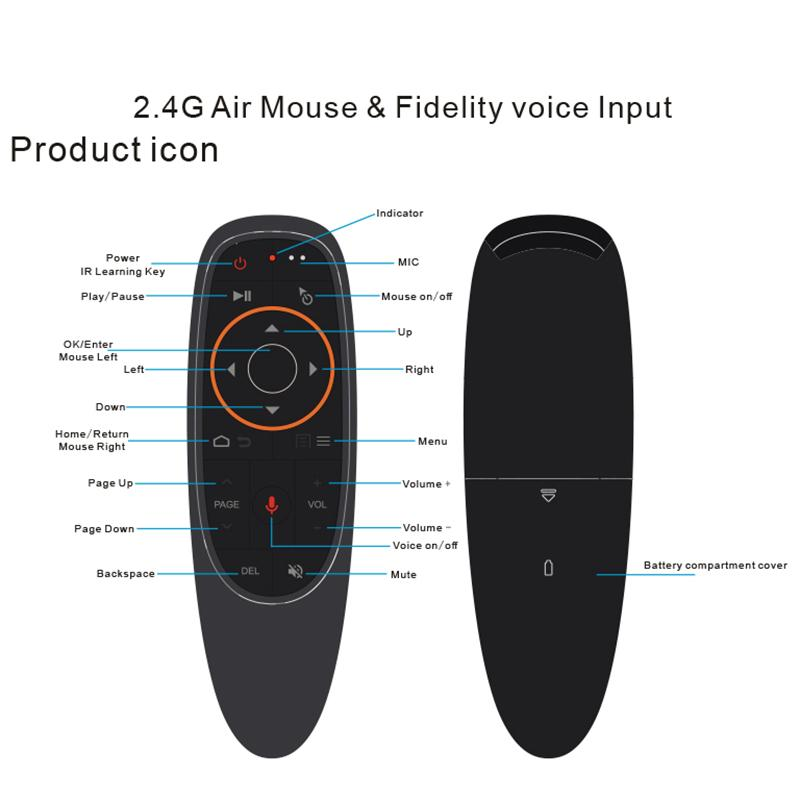 Cheap Remote Controls kebidu G10s Fly Air Mouse Mini Remote Control G10 Wireless 2.4GHz For Android Tv Box With Voice Control For