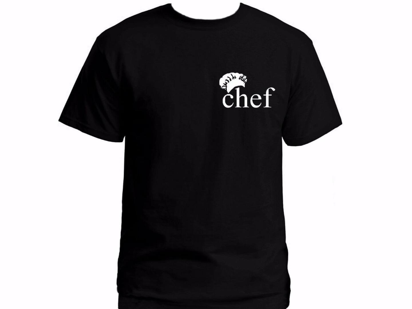Chef graphic black 100% cotton graphic t-shirt Funny cooking gifts