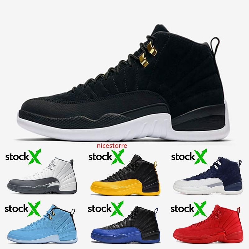 Jumpman 12 12s Shoes Mens Basketball reverso Taxi Dark Gray jogo da universidade de ouro Royal International vôo Hot perfurador Mulheres Homens Trainers