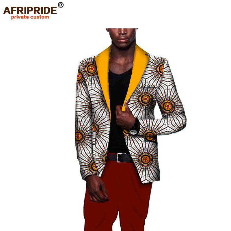 الرجال الاسلوب المناسب الافريقية سترة الملابس الأفريقية أحدث التصاميم معطف طباعة القطن الشمع المخصص الخاص بالإضافة إلى sizeA731401