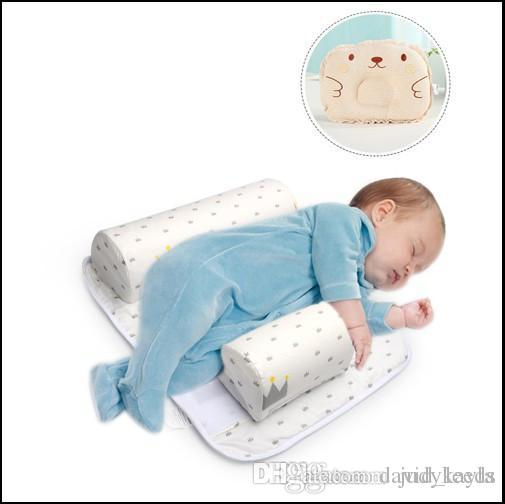 2017 New Baby Infant Newborn Sleep Positioner Anti Roll Pillow With Sheet Cover+Pillow 2pcs Sets