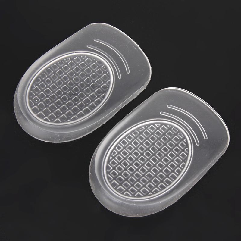 1 Pair Silicon Gel Insoles Back Pad Heel Cup For Calcaneal Pain Health Feet Care Support Spur Feet Cushion Silica Pads