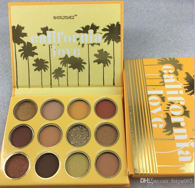 Дропшиппинг Калифорния любовь палитра 12 цветов макияж набор оранжевый тыква цвет палитра теней для век Бесплатная доставка