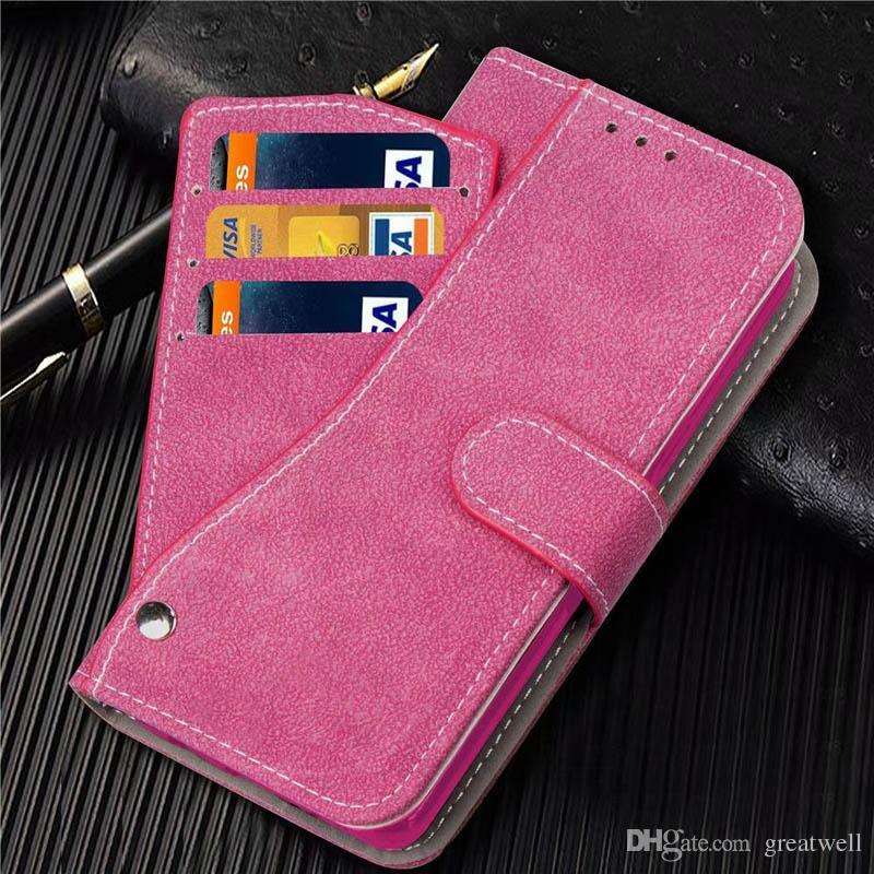 Rotación de la carpeta del tirón del cuero de la PU cubierta de la caja con las ranuras para tarjeta de la bolsa para el iphone 11 Pro Max XS XR 8 7 6S Plus Samsung S8 S9 S10 S20 Nota 10 Plus