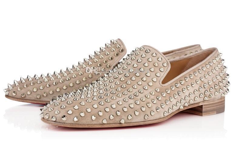 Luxus Loafers Business Fashion Red Bottom Dandelion Spikes Wohnung Freizeit Frühling / Herbst-Partei-Hochzeit-Walking-Schuhe Beleg auf Müßiggänger Schuhe