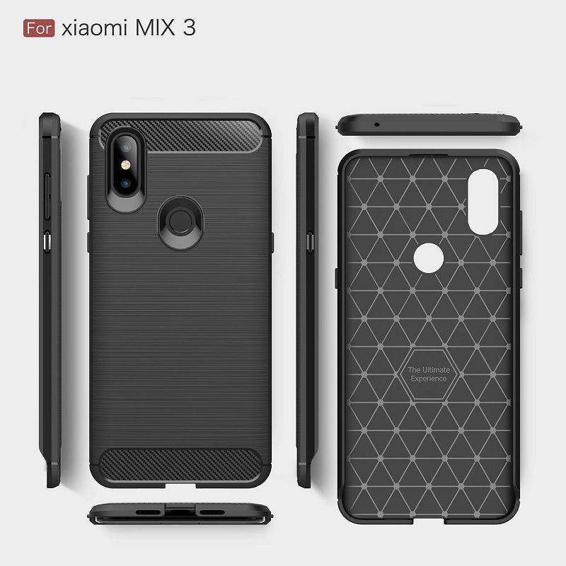 2018 Nouveaux cas de téléphones portables pour Xiaomi Mix3 luxe cas en fibre de carbone lourds pour Mi Max3 couverture Livraison DHL gratuit