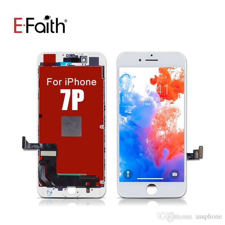 EFaith Siyah ve iPhone 7 Artı ücretsiz nakliye Beyaz Yüksek Kalite LCD Ekran Dokunmatik Sayısallaştırıcı Meclisi Ekran Değiştirme